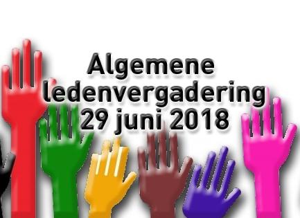 Algemene ledenvergadering 29 juni 2018