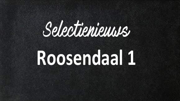 Eerste oefenwedstrijd Roosendaal 1